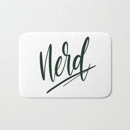 Nerd / Dark Green Bath Mat
