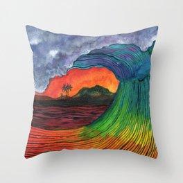 hartless wave Throw Pillow