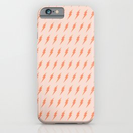 Lightning bolt pattern pink and orange iPhone Case