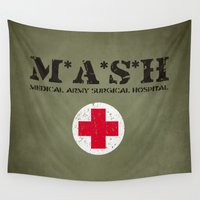 kubrick Wall Tapestries featuring MASH by Nxolab