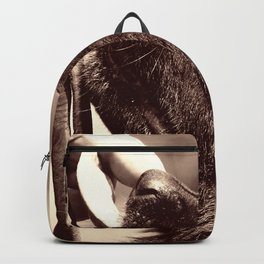 The love of a dog to man Backpack
