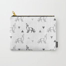 Origami Wolf Pattern Carry-All Pouch