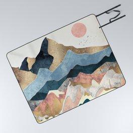 Golden Peaks Picnic Blanket