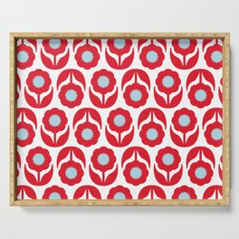 Joy collection - Red flowers Serving Tray