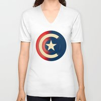 captain silva V-neck T-shirts featuring Captain by Ian Wilding