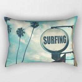 Surfing Sign Rectangular Pillow