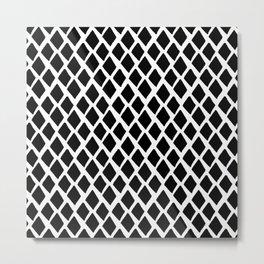 Rhombus Black And White Metal Print