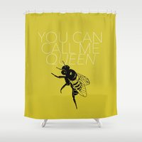lorde Shower Curtains featuring Queen Bee by kirstenariel