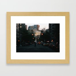 Washington Square Park Lights Framed Art Print