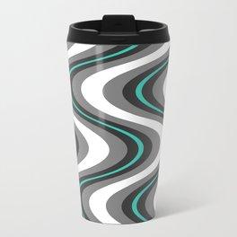 blue wave Travel Mug