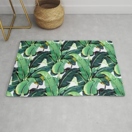 Tropical Banana leaves pattern Rug