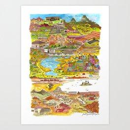 Perú & Bolívia Art Print