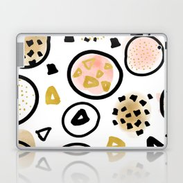 Mid Century Modern Abstract Blush and Gold Pattern III Laptop & iPad Skin