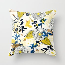 Flowers patten1 Throw Pillow