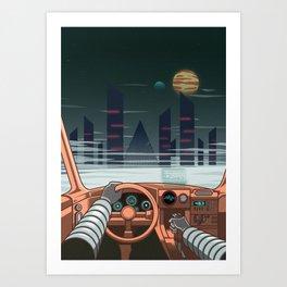 Night driver Art Print