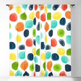Cobblestone Watercolor Abstract Blackout Curtain