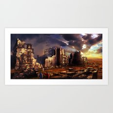 Building up Jerusalem Art Print