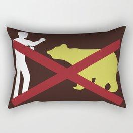 Don't Fistfight the Bears Rectangular Pillow