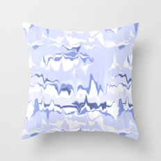 Marbled in ocean Throw Pillow