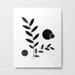 Abstract Leaves Metal Print
