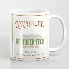 Christmas Reindeer Feed sack Coffee Mug