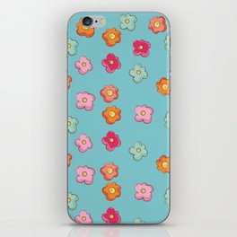 Whimsical flower floral print iPhone Skin