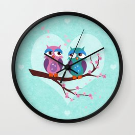 Love owls Wall Clock
