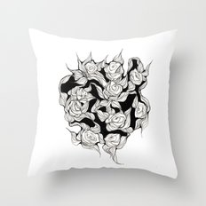 Abstract roses Throw Pillow