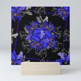 Orquids at Midnight by Mariela Miranda Mini Art Print