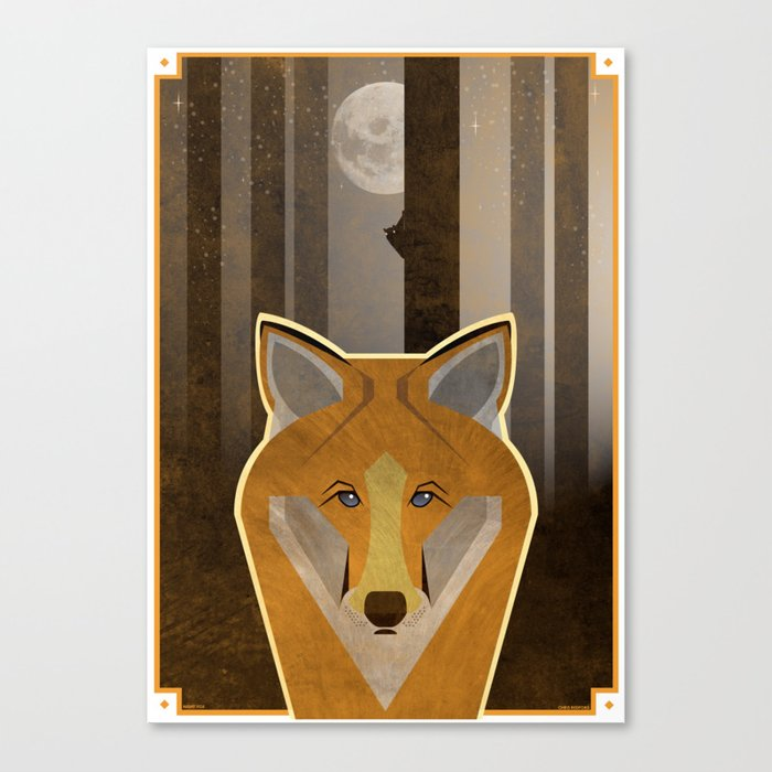 Night Fox Canvas Print