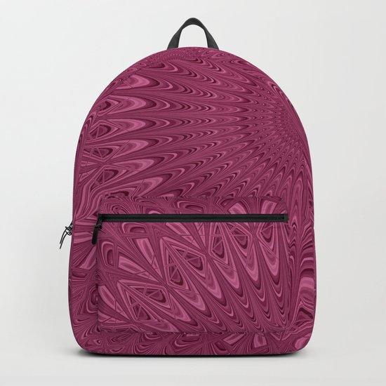 Violet red mandala Backpack