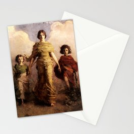 Mary, Jesus and John the Baptist by Abbott Handerson Thayer Stationery Cards