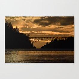 Deception Pass Bridge Sunset Canvas Print