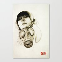 mask Canvas Prints featuring MASK by lantomo