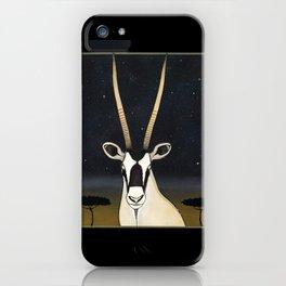 """NIGHT OF THE GEMSBOK"" iPhone Case"