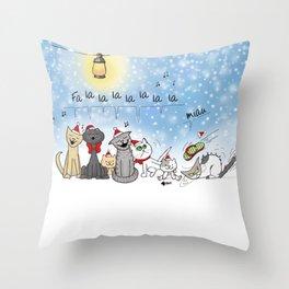 Christmas cats Throw Pillow