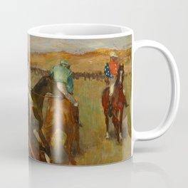 "Edgar Degas ""Before the race"" Coffee Mug"