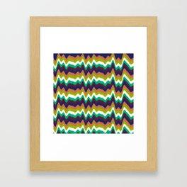 Colorful Heartbeat Framed Art Print