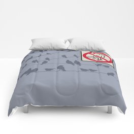 Birds Sign - NO droppings 1 Comforters