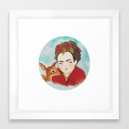 Frida & Granizo  Framed Art Print