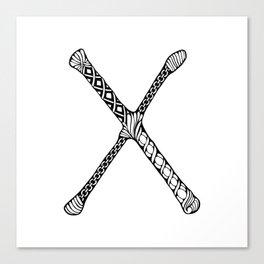 Monogram letter X Canvas Print