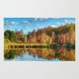 Vibrant Autumn Reflections Rug