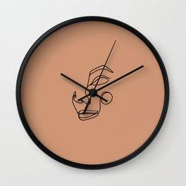 Minimalist femme, maple Wall Clock