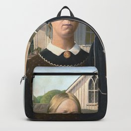 Grant Wood, American Gothic 1930 Artwork for Wall Art, Prints, Posters, Tshirts, Men, Women, Youth Backpack