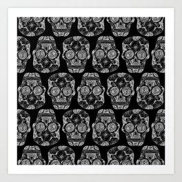 Caveira black  Art Print