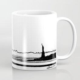 Lady Liberty Overlooking the Hudson Coffee Mug