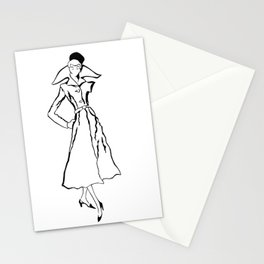 strike a pose, two Stationery Cards