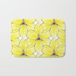 Flower Sketch 3 Bath Mat