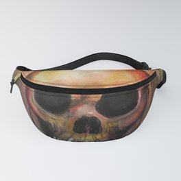 Psychedelic Skull Fanny Pack