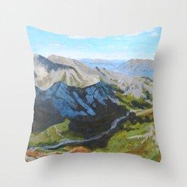 Cloud Cover Denali National Park Throw Pillow